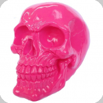 Crâne tête de mort rose compact