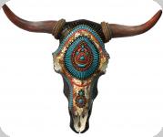 Crane de Vache résine mosaique turquoise