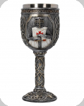 Calice ( ciboire, verre ) Templier de 19.5 cm