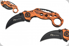 Couteau Pliant Karambit Orange  