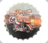 Capsule Métal Vintage  Harley Route 66 Freedom Riders