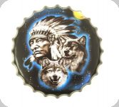 Capsule Métal Vintage Indien et loup