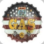 Capsule Métal Vintage Gas Route 66