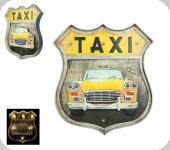 Enseigne vintage 3D à Led  Ecusson R66  Taxi Jaune