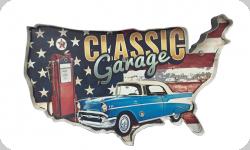 Enseigne vintage 3D à Led  Classic Garage