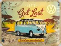 Plaque métal publicitaire vintage  Get Lost WW  de 60 x 40 XL