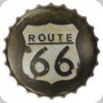 Capsule Métal Vintage Route 66 Marron