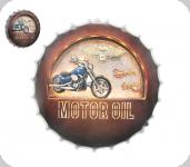 Cadre rond Vintage Motor Oil