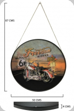 Cadre rond Vintage  Harley Freedom Riders Route 66