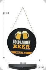 Cadre rond Vintage  Gold Larger Beer