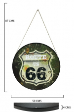 Cadre rond Vintage  Route 66 US Army