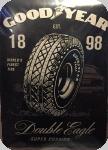 Plaque métal publicitaire vintage  Good Year  de 60 x 40 XL