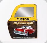 Decor mural vintage 3D / portière  porte Custom classic car avec miroir