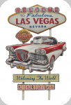 Decor mural vintage 3D   Panneau Las Vegas