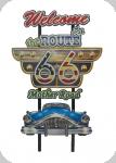 Decor mural vintage 3D  Panneau Welcom Route 66