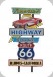 Decor mural vintage 3D  Panneau American Highway