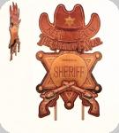 Decor mural vintage Western 3D  Panneau Cowboy Sherif