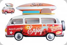 Decor mural  vintage 3D  Combi Surfer Rouge