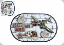 Decor mural militaria vintage 3D  Avion 1941-1942 AUG