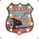 Enseigne vintage 3D à Led  Logo R66 Garage Voiture Open 24h