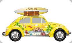 Decor mural  vintage 3D  Cox Surfer Jaune