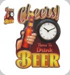 Decor mural vintage 3D  Plaque Beer Horloge