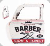 Decor mural vintage 3D  portière / porte Barber avec miroir