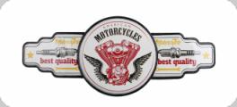 Decor mural vintage 3D  Enseigne American Motorcycles
