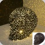 Crâne tête de mort Lumineux à Led noir