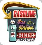 Enseigne vintage 3D à Led  Gasoline Diner
