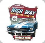 Decor mural  vintage 3D  Plaque voirture Highway de 75 cm