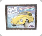 Cadre Vintage Cox jaune / de 55 cm