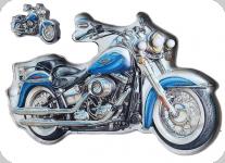 Enseigne vintage 3D à Led  Moto Harley Bleu