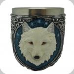 Verre Loup Blanc  de 9.5 cm
