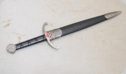 Dague Templière avec fourreau de 39 cm