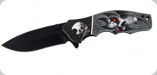 Couteau pliant Skull yeux rouge