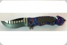 Couteau pliant multicolore lame voilé
