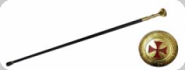 Canne épée templier Doré