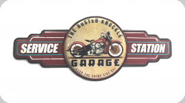Decor mural vintage 3D  Enseigne Service Garage Station