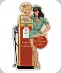Decor mural  vintage 3D  Pompe Bettie Service Station de 76 cm