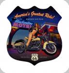 Decor mural vintage 3D  Enseigne American's Greatest Ride