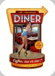Decor mural vintage 3D  Enseigne All American Diner