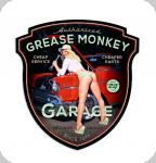 Decor mural vintage 3D  Enseigne Grease Monkey