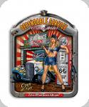 Decor mural vintage 3D / Plaque Dependable Service Pin Up