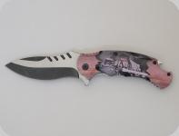 Couteau pliant bois chevalier templier   lame de 9 cm