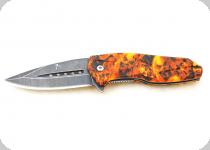 Couteau  zombies orange  lame de 8.5 cm