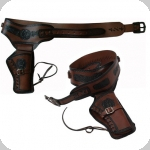 Ceinturon holster marron  pour 1 revolver western
