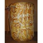 Drum amérindien en Rawhide  ( Décoré animaux fond jaune)