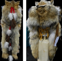 Coiffe indienne Medecine Man Shaman  Made in USA (  Mod.court Full COYOTE )