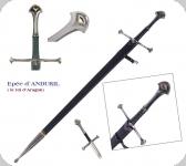 Epée d'ANDURIL + Fourreau  Le Seigneur des Anneaux